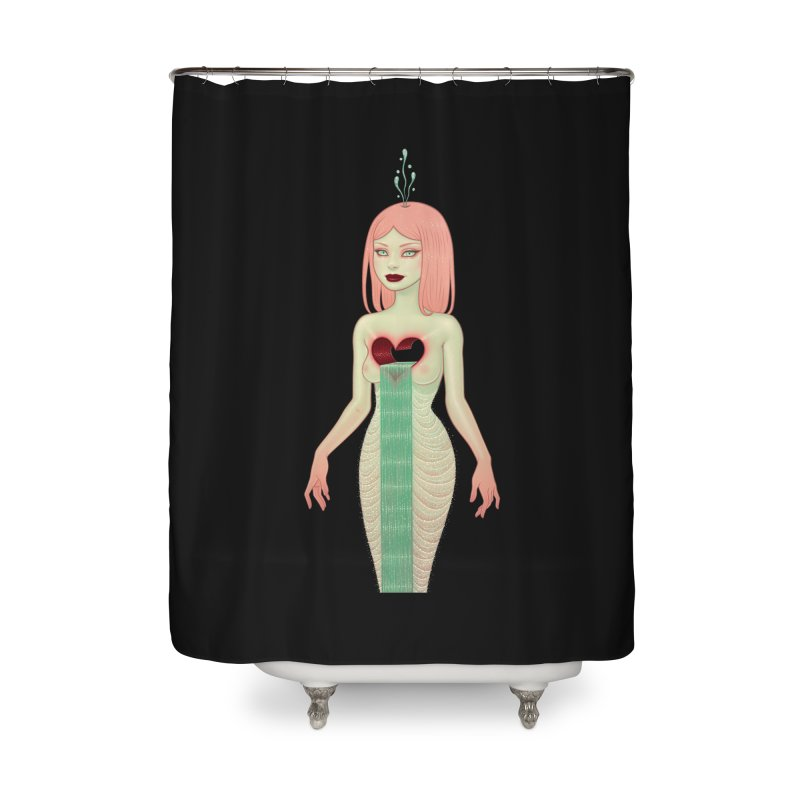 The Fountain Home Shower Curtain by Tara McPherson