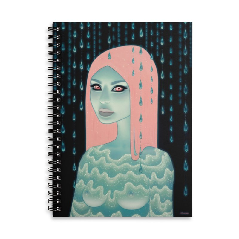 Wandering Luminations Accessories Lined Spiral Notebook by Tara McPherson