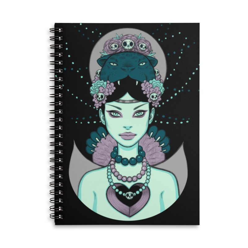 Wayob Accessories Lined Spiral Notebook by Tara McPherson