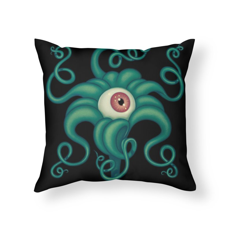 Lily Eye Home Throw Pillow by Tara McPherson
