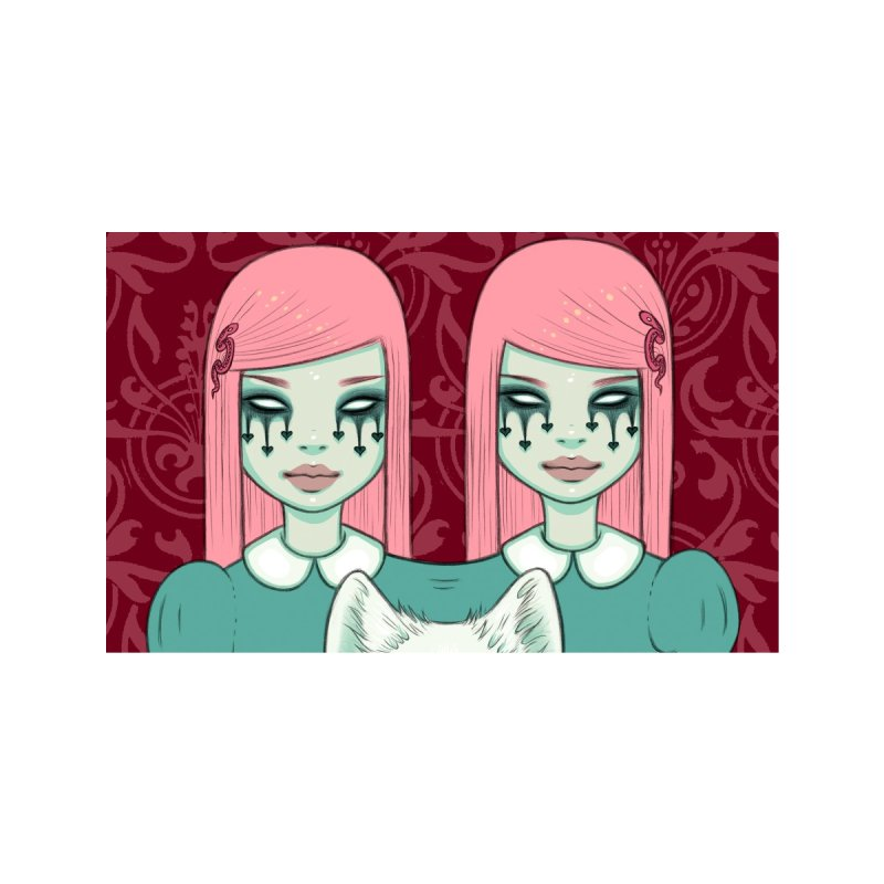 Shared Shadow Pink Accessories Face Mask by Tara McPherson