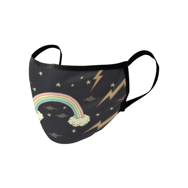 Rainbow Frown Accessories Face Mask by Tara McPherson