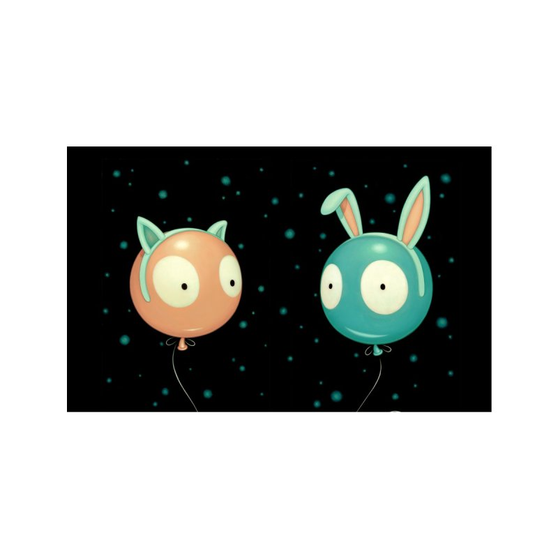 Kitty and Bunny Wiggle Accessories Face Mask by Tara McPherson