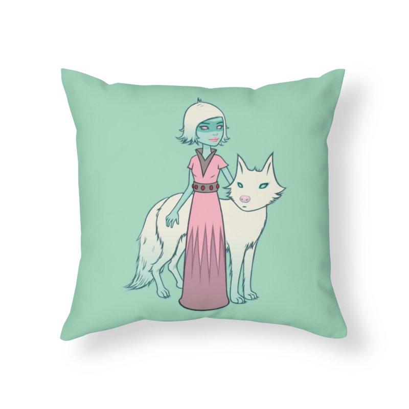Astra & Orbit Home Throw Pillow by Tara McPherson