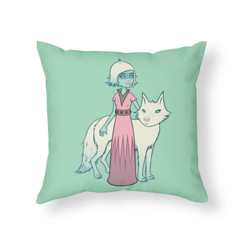 Astra & Orbit Home Throw Pillow by Tara McPherson
