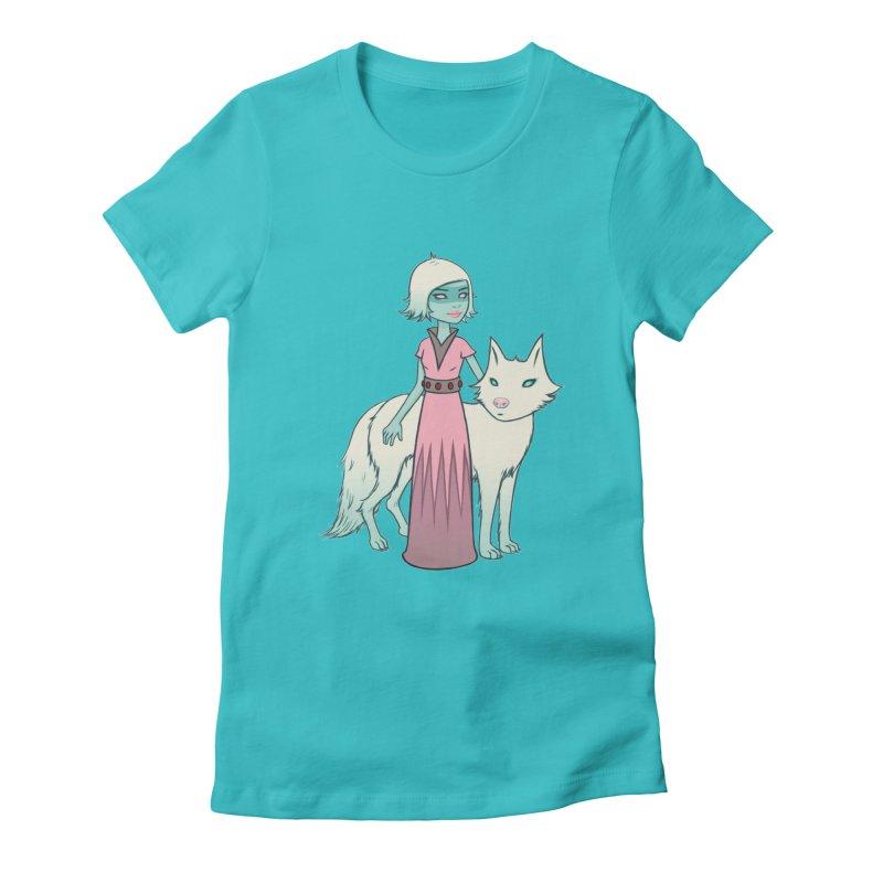 Astra & Orbit Women's Fitted T-Shirt by Tara McPherson