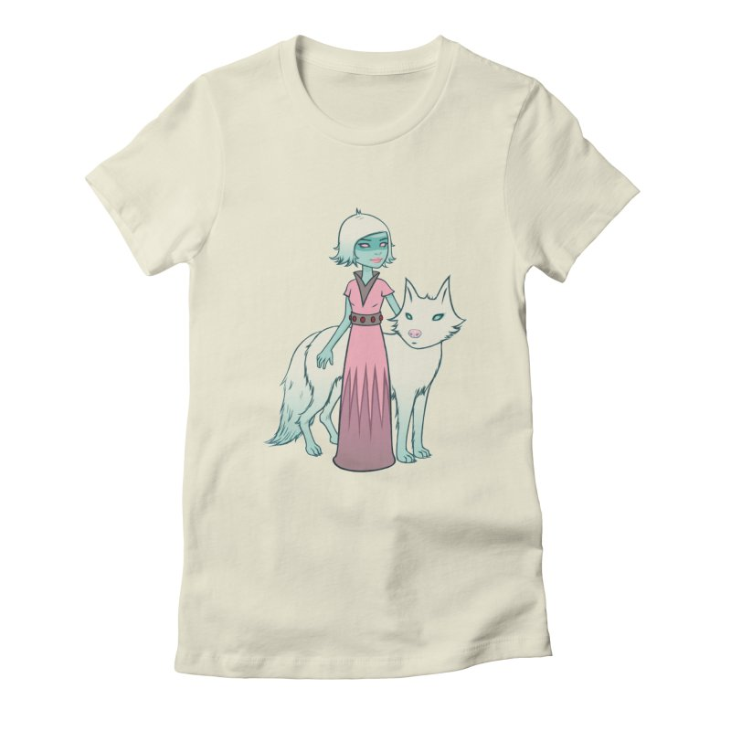 Astra & Orbit Women's Fitted T-Shirt by Tara McPherson