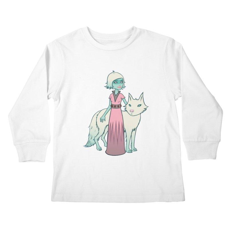 Astra & Orbit Kids Longsleeve T-Shirt by Tara McPherson