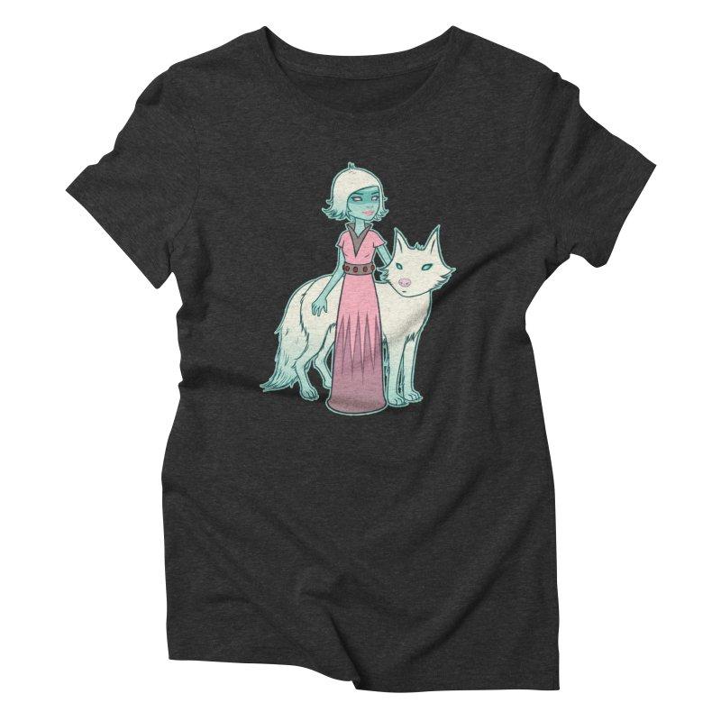 Astra & Orbit Women's Triblend T-Shirt by Tara McPherson