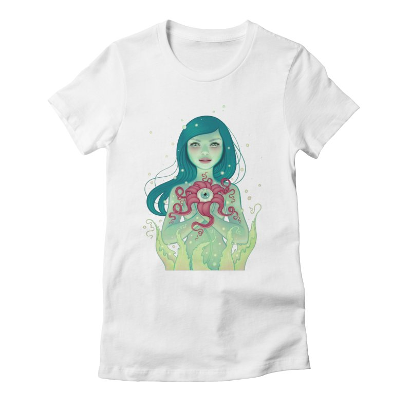 Bloom Women's Fitted T-Shirt by Tara McPherson