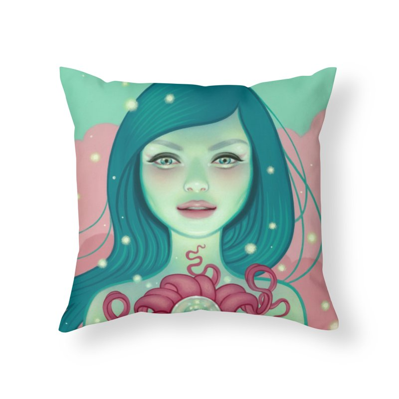 Bloom Home Throw Pillow by Tara McPherson