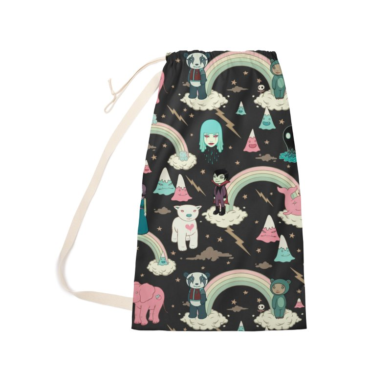 Stellar Dream Scouts - Black Accessories Laundry Bag Bag by Tara McPherson