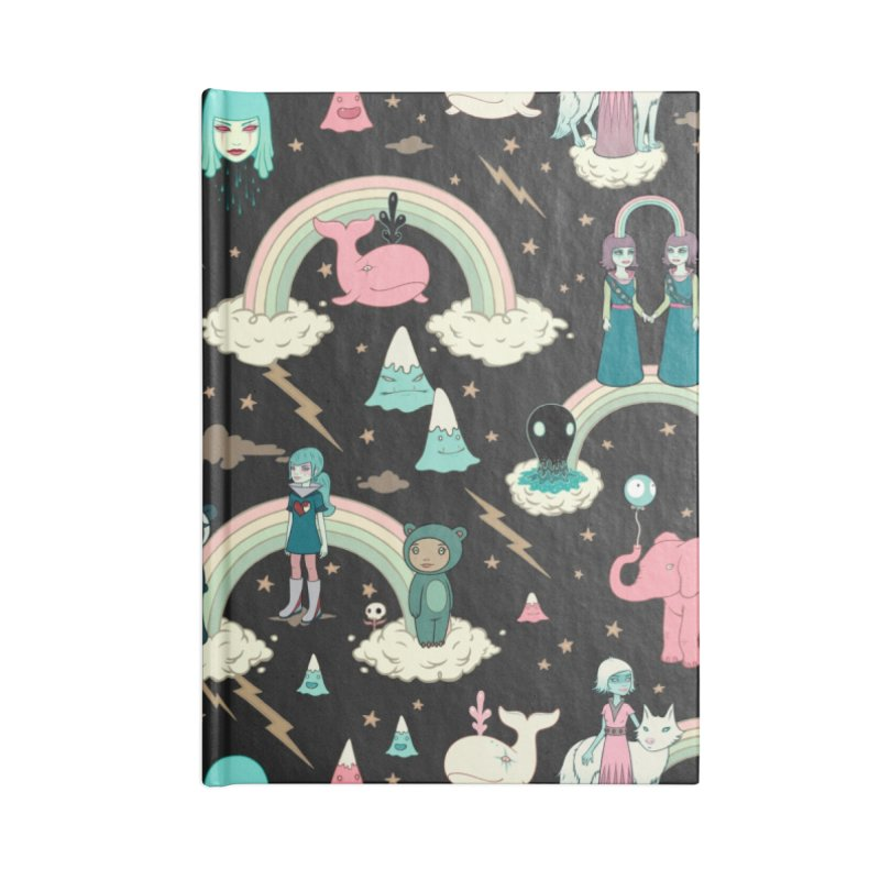 Stellar Dream Scouts - Black Accessories Lined Journal Notebook by Tara McPherson