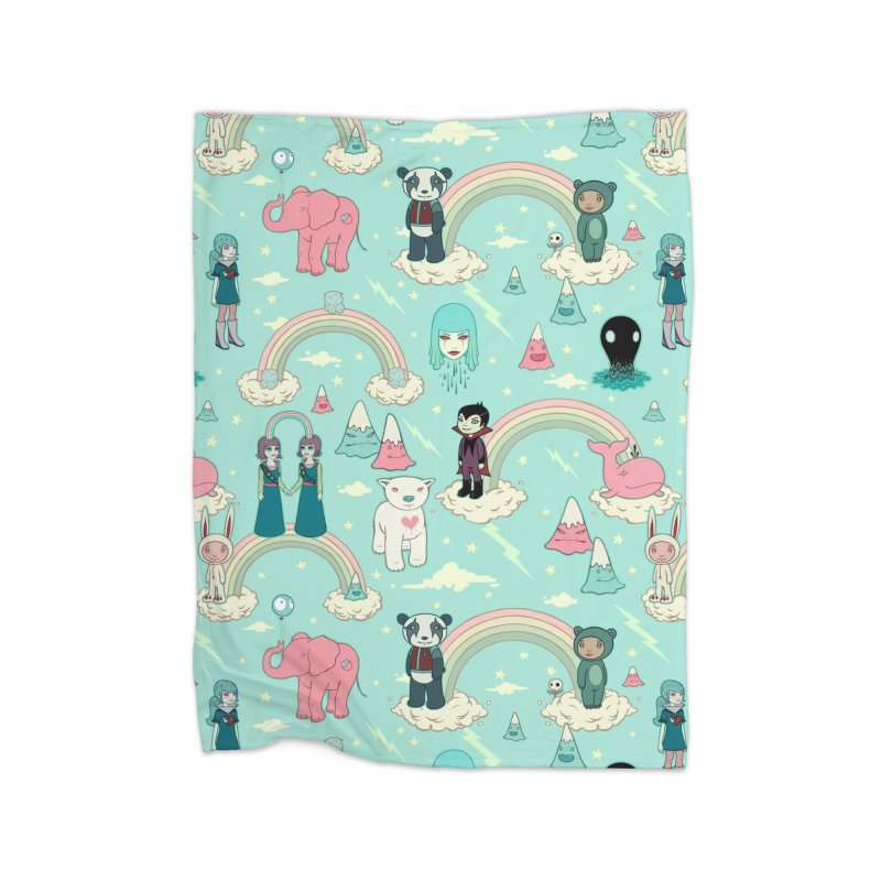 Stellar Dream Scouts - Blue Home Fleece Blanket Blanket by Tara McPherson