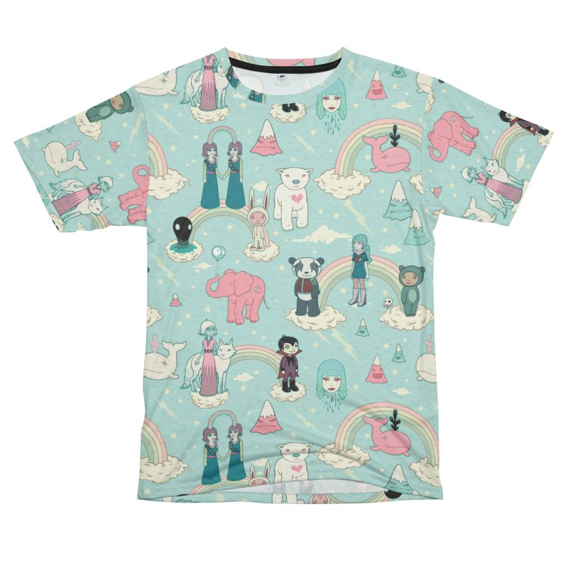 Stellar Dream Scouts - Blue Men's French Terry T-Shirt Cut & Sew by Tara McPherson