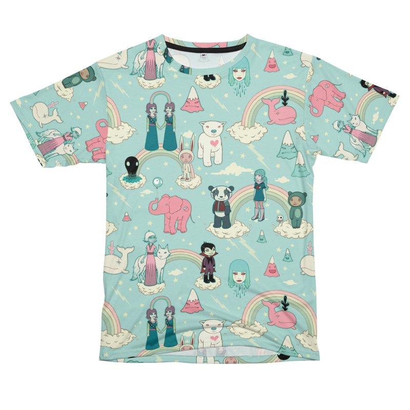 Stellar Dream Scouts - Blue Women's Unisex T-Shirt Cut & Sew by Tara McPherson