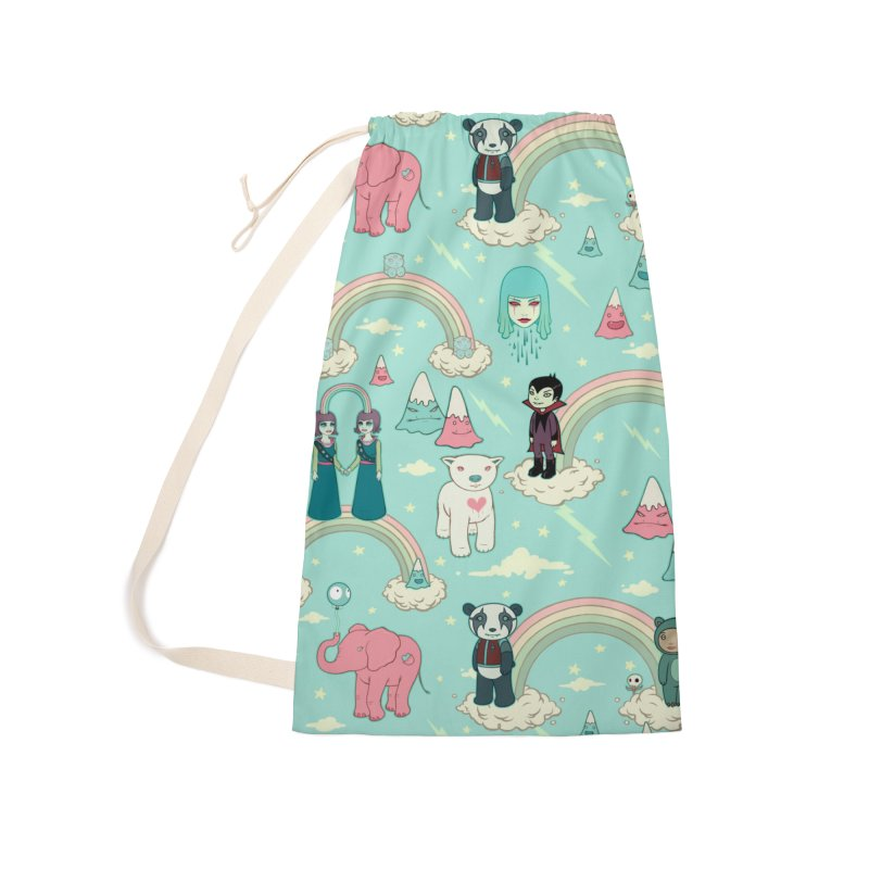 Stellar Dream Scouts - Blue Accessories Laundry Bag Bag by Tara McPherson