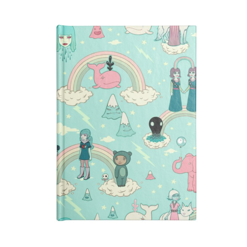 Stellar Dream Scouts - Blue in Blank Journal Notebook by Tara McPherson