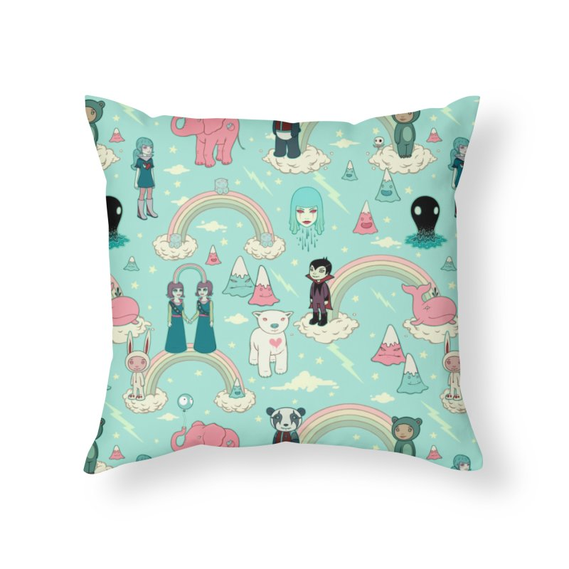 Stellar Dream Scouts - Blue Home Throw Pillow by Tara McPherson