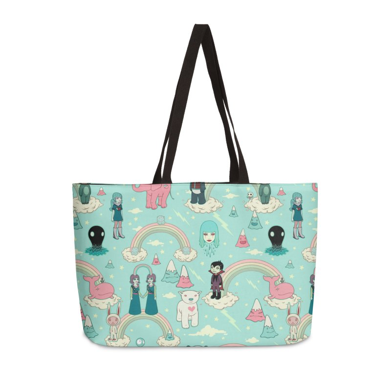 Stellar Dream Scouts - Blue Accessories Weekender Bag Bag by Tara McPherson