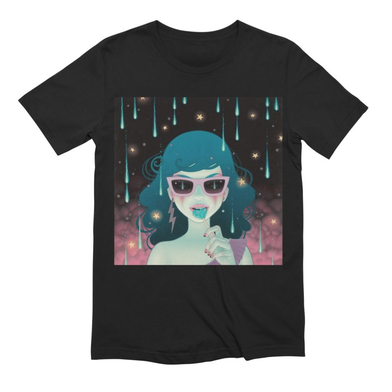 Electric Lola Men's Extra Soft T-Shirt by Tara McPherson