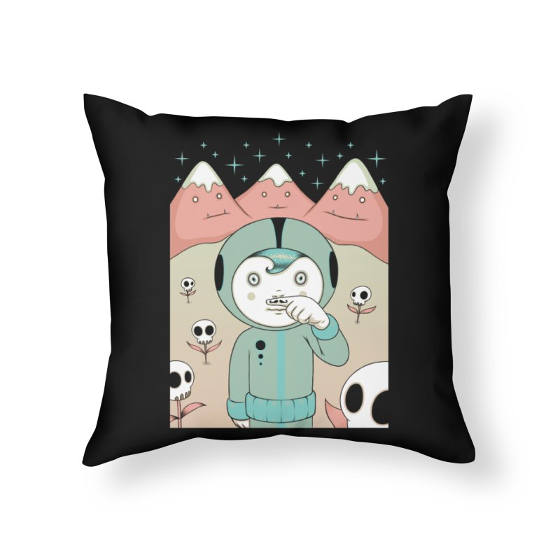 Lucius and His First Mustache Finger Home Throw Pillow by Tara McPherson