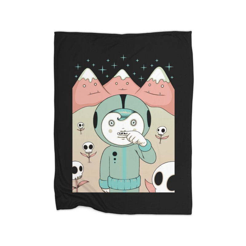 Lucius and His First Mustache Finger Home Blanket by Tara McPherson
