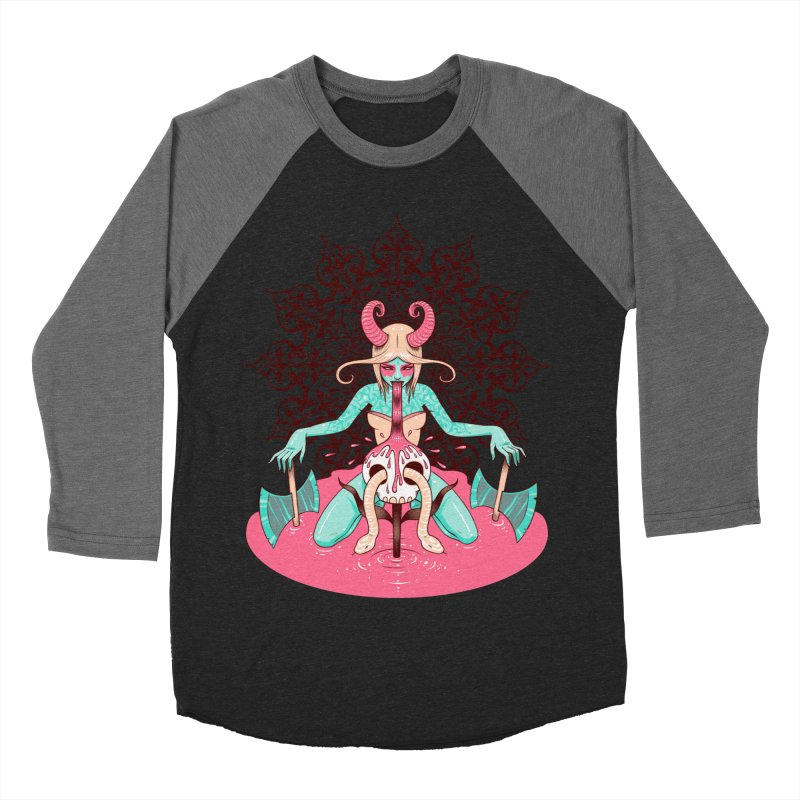 Demoness Men's Baseball Triblend T-Shirt by Tara McPherson
