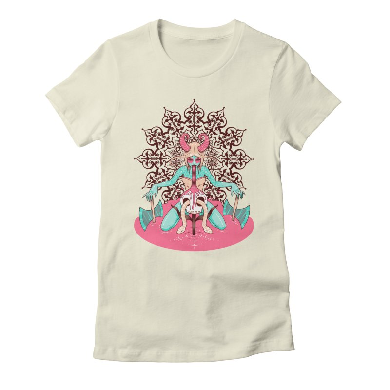 Demoness Women's Fitted T-Shirt by Tara McPherson