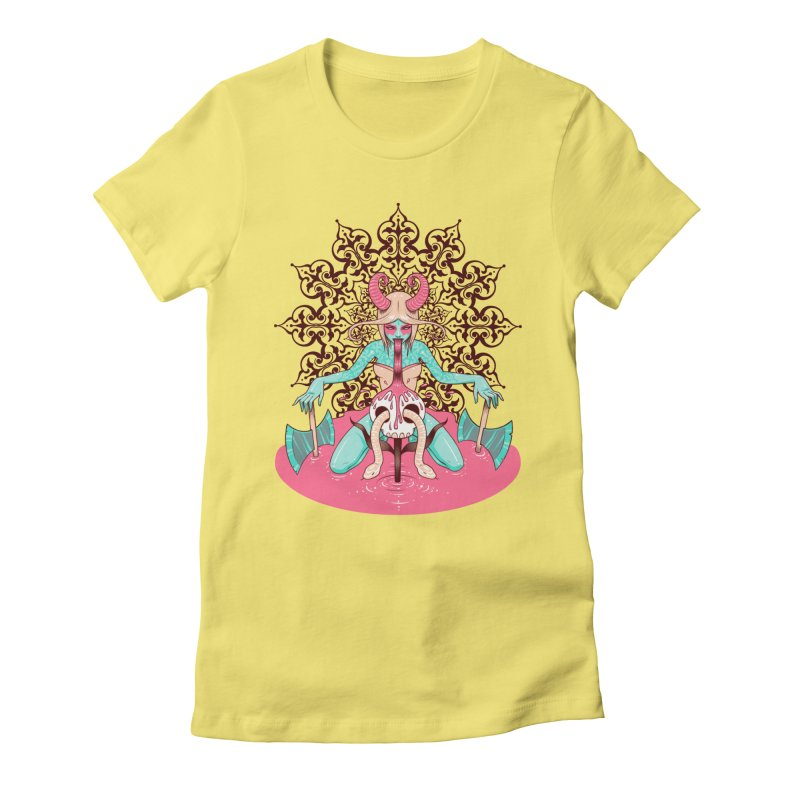 Demoness Women's Fitted T-Shirt by Tara McPherson