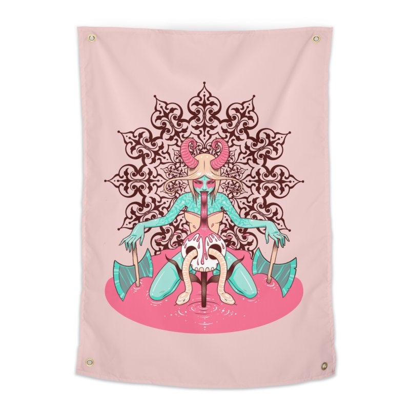 Demoness Home Tapestry by Tara McPherson