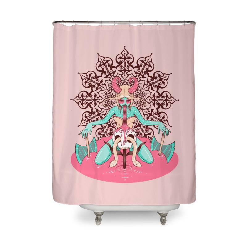 Demoness Home Shower Curtain by Tara McPherson