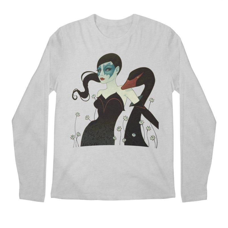 Black Swan Men's Longsleeve T-Shirt by Tara McPherson