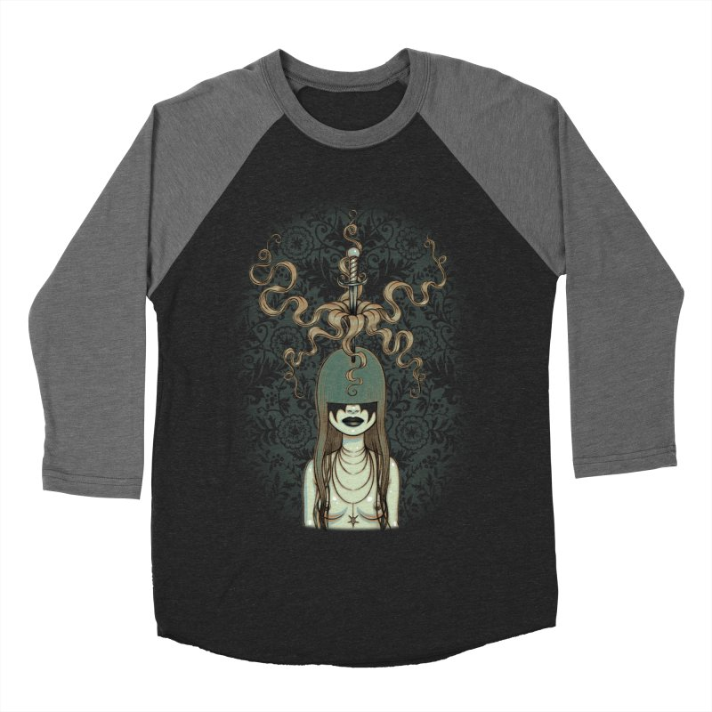 Sword Swallower Men's Baseball Triblend T-Shirt by Tara McPherson