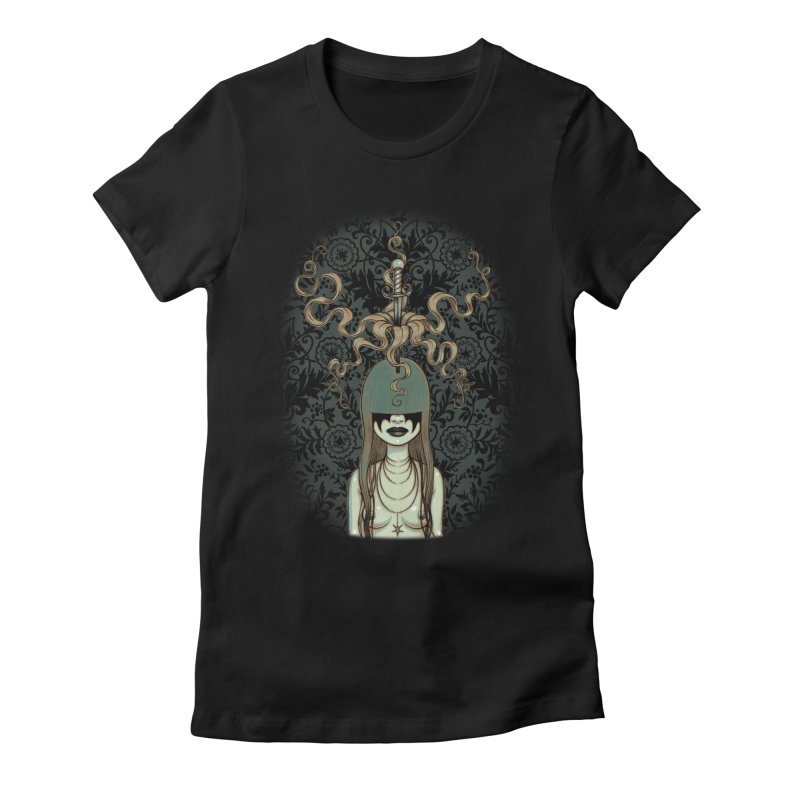 Sword Swallower Women's Fitted T-Shirt by Tara McPherson