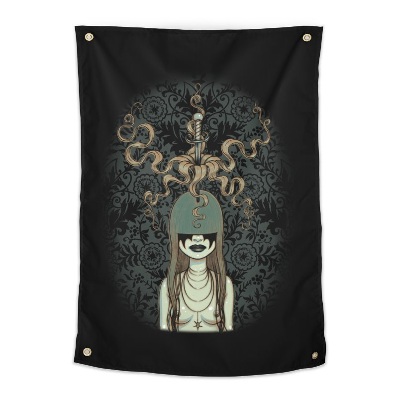 Sword Swallower Home Tapestry by Tara McPherson