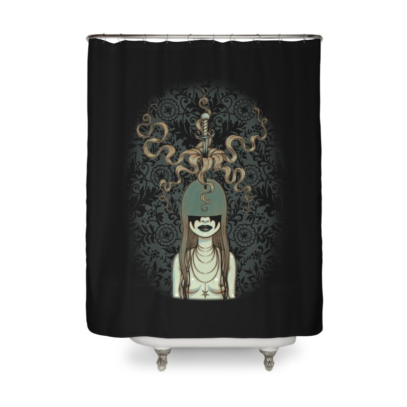 Sword Swallower Home Shower Curtain by Tara McPherson