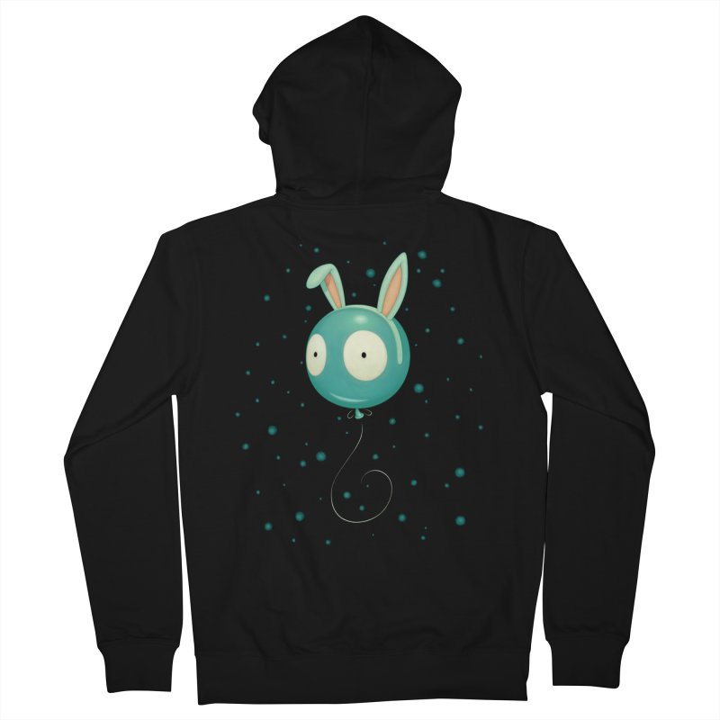 Bunny Wiggle Men's Zip-Up Hoody by Tara McPherson
