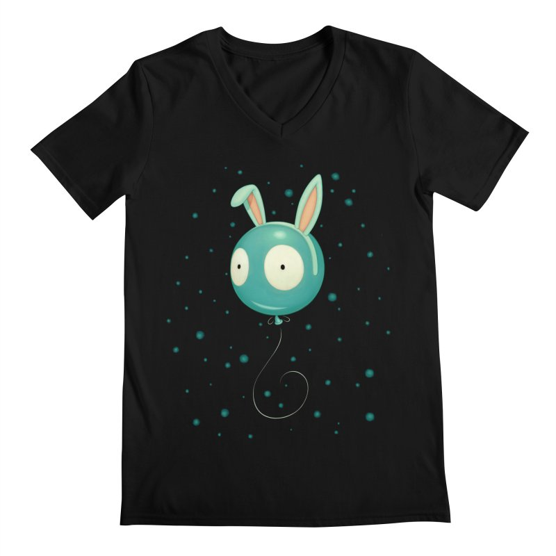 Bunny Wiggle Men's V-Neck by Tara McPherson