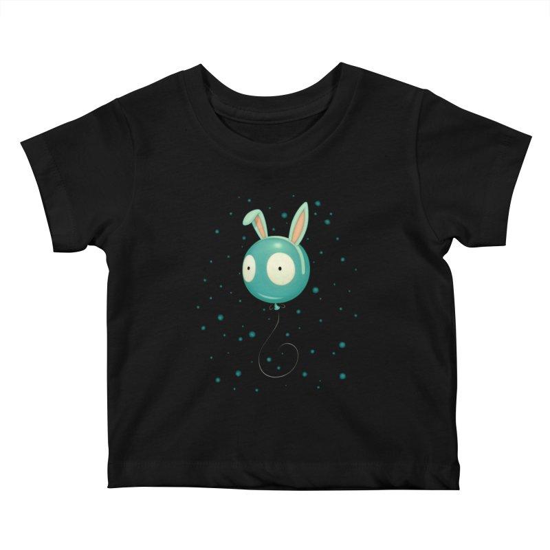 Bunny Wiggle Kids Baby T-Shirt by Tara McPherson
