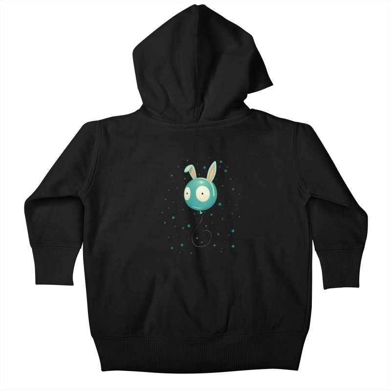 Bunny Wiggle Kids Baby Zip-Up Hoody by Tara McPherson