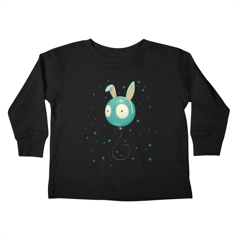 Bunny Wiggle Kids Toddler Longsleeve T-Shirt by Tara McPherson