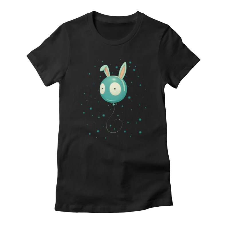 Bunny Wiggle Women's Fitted T-Shirt by Tara McPherson