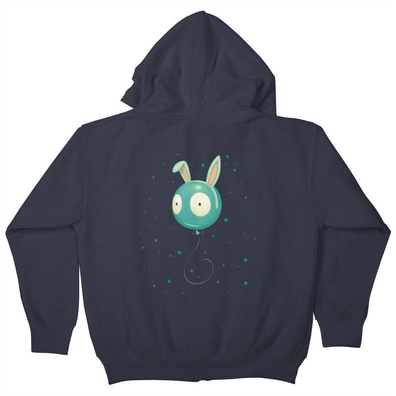 Bunny Wiggle Kids Zip-Up Hoody by Tara McPherson