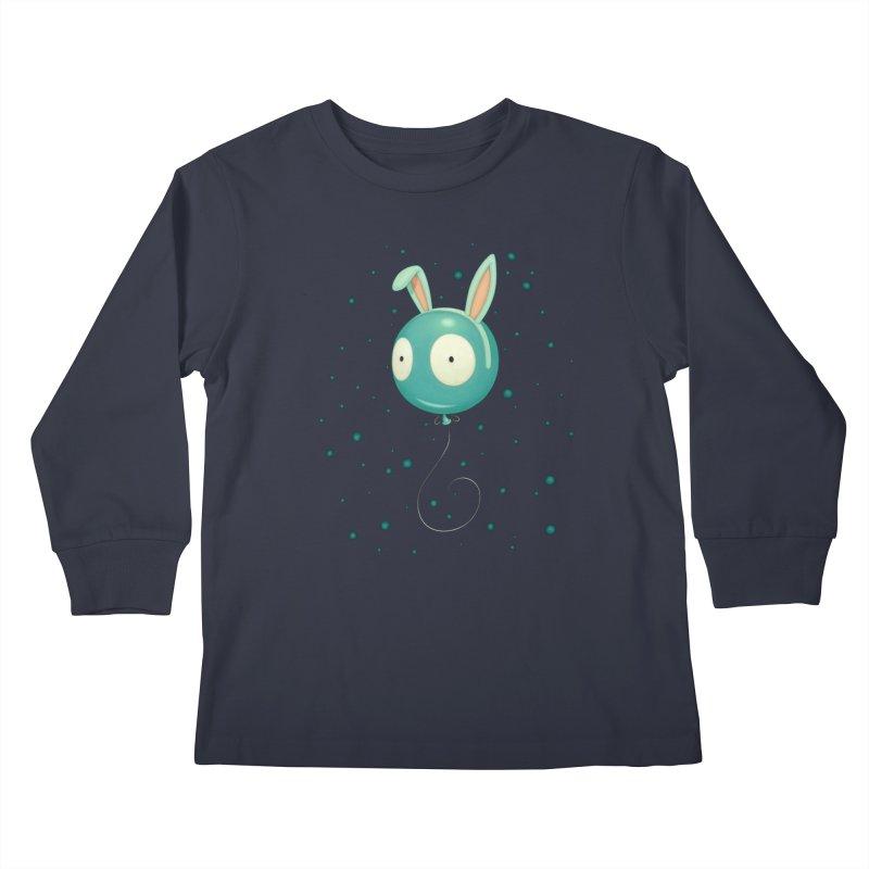 Bunny Wiggle Kids Longsleeve T-Shirt by Tara McPherson