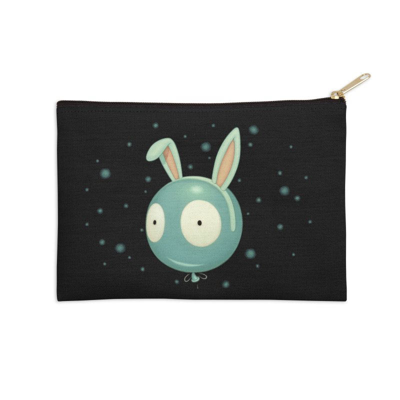 Bunny Wiggle Accessories Zip Pouch by Tara McPherson