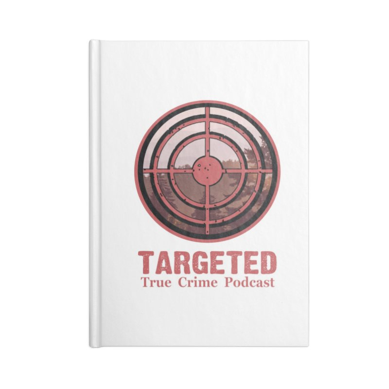 Targeted Podcast Mountain for Black Background Accessories Notebook by targetedpodcast's Artist Shop
