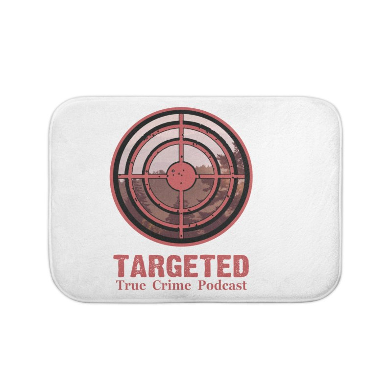 Targeted Podcast Mountain for Black Background Home Bath Mat by targetedpodcast's Artist Shop