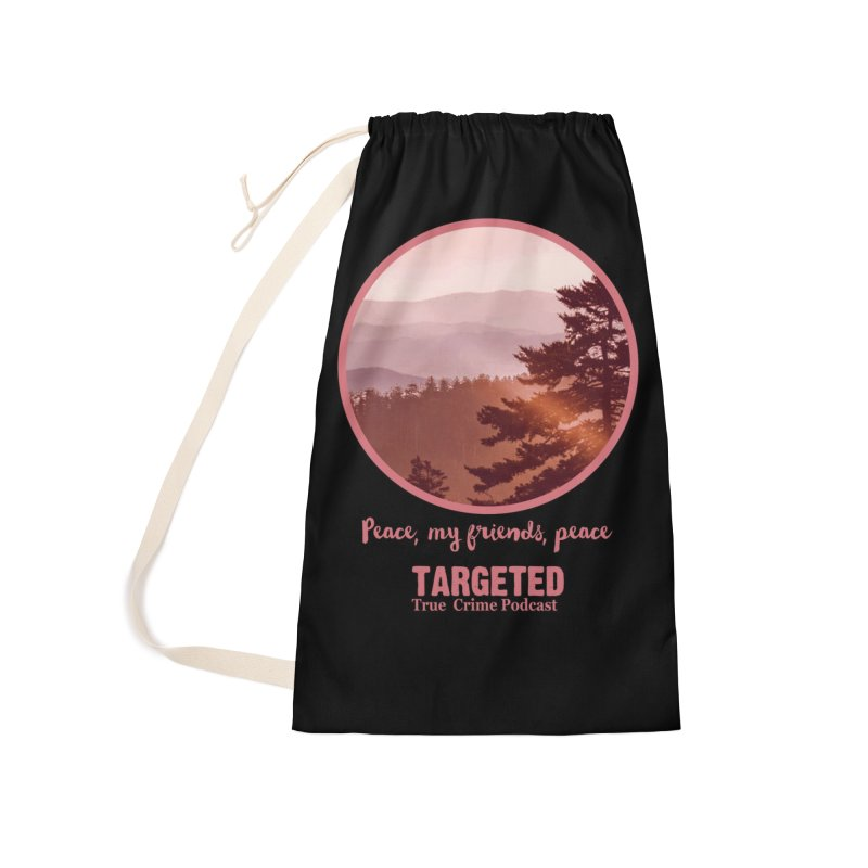 Peace Mountain Targeted Logo Accessories Bag by targetedpodcast's Artist Shop
