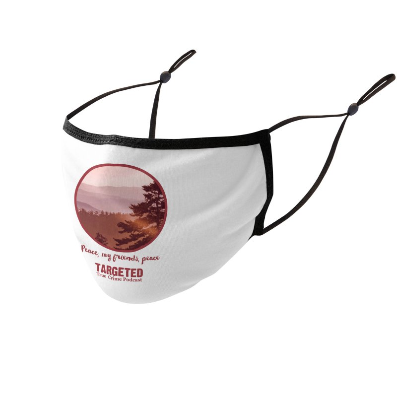 Peace Mountain Red Accessories Face Mask by targetedpodcast's Artist Shop